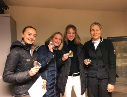 Grattis Mirjam, Agnes, Ellen och Ingela till dagens segrar i klubbdressyren.
