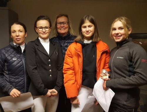Grattis Vera, Katrin, Tindra, Åsa, Camilla och Eva till dagens placeringar i klubbdressyren!